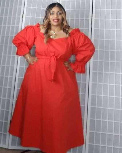 Eloquii Plus size red dress