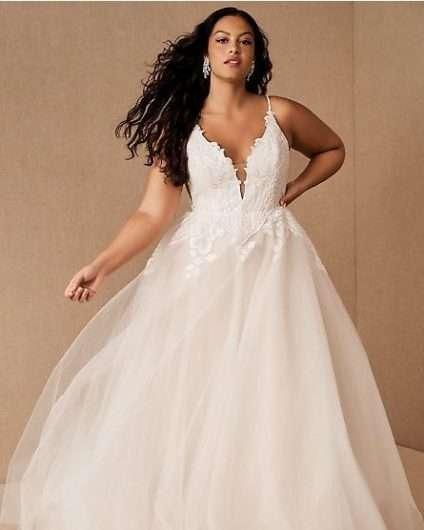 Hayley-Paige-Topanga-Plus Size Wedding Dress