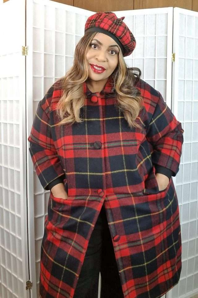 Trendy Tartan Plaid Plus Size Winter Outfits