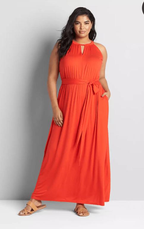 Lane Bryant Twist-Neck Maxi Dress