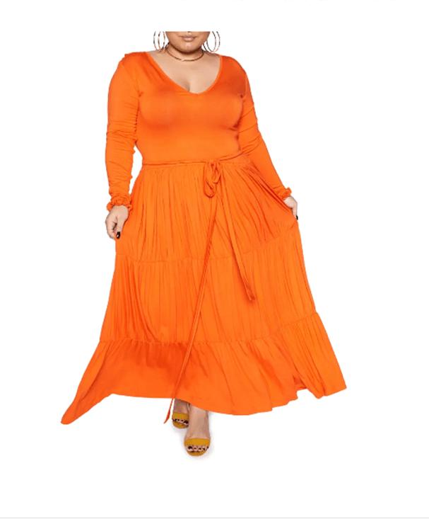 Zelie for She Orange Dress