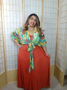 SHEIN Plus size Batwing Graphic Kimono Crop Top