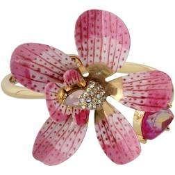 Betsey-Johnson-orchid-bangle-bracelet
