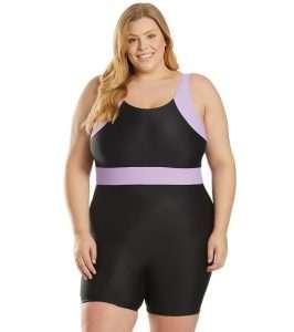 Cultured Curves Plus size swimwear unitard